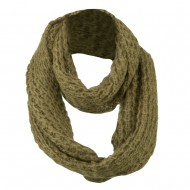 Women's Acrylic Mohair Loop Scarf - Light Brown