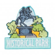 Historical Park Museum Embroidered Patch - Blue