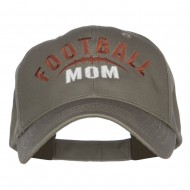 Football Mom Embroidered Organic Cotton Cap - Olive
