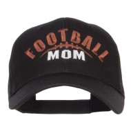 Football Mom Embroidered Organic Cotton Cap - Black