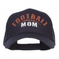 Football Mom Embroidered Organic Cotton Cap - Navy