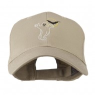 Halloween Ghost with Moon and Bat Embroidered Cap - Khaki