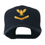 Military Naval Stripe with Eagle Emblem Embroidered Cap - Navy