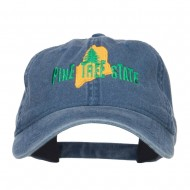 Maine Pine Tree State Embroidered Cap - Navy