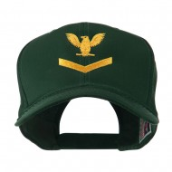 Military Naval Stripe with Eagle Emblem Embroidered Cap - Green