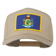 Eastern State Maine Embroidered Patch Cap - Khaki