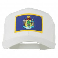 Eastern State Maine Embroidered Patch Cap - White