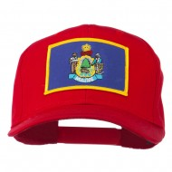 Eastern State Maine Embroidered Patch Cap - Red