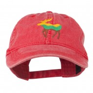 Wildlife Animal Moose Embroidered Cap - Red