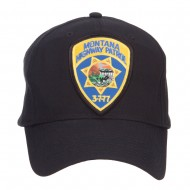 Montana State Highway Patrol Patched Cotton Cap - Black