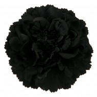 Multi Petal Flower with Pin and Clip - Black