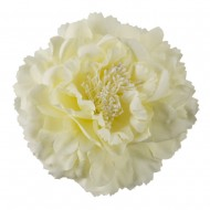 Multi Petal Flower with Pin and Clip - Cream