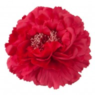 Multi Petal Flower with Pin and Clip - Pink