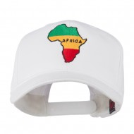 Map of Africa Embroidered Cap - White