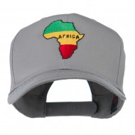 Map of Africa Embroidered Cap - Grey