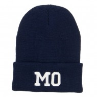 MO Missouri State Embroidered Long Beanie - Navy