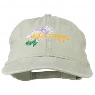 Mississippi State Flower Embroidered Washed Cap - Stone