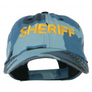 Sheriff Military Embroidered Camo Cap - Sky