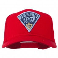 Massachusetts State Police Patch Cap - Red