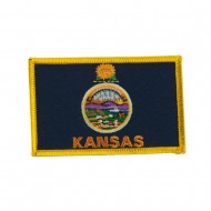 Middle State Embroidered Patches - Kansas