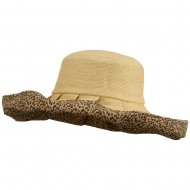 Paper Matte Fashion Roll Up Hat - Animal