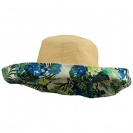 Paper Matte Fashion Roll Up Hat - Blue Floral