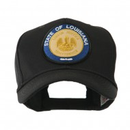 Mid State Seal Embroidered Patch Cap - Louisiana