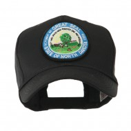 Mid State Seal Embroidered Patch Cap - North Dakota