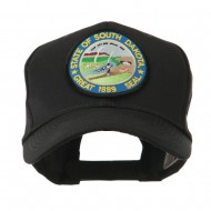 Mid State Seal Embroidered Patch Cap - South Dakota