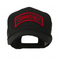 Military Related Text Embroidered Patch Cap - Commando