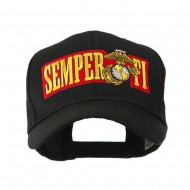 Military Related Text Embroidered Patch Cap - Semper