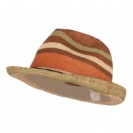 Men's Striped Woven Paper Fedora - Natural