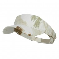 Garment Washed Camo Visor-White