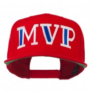 MVP Embroidered Flat Bill Cap - Red