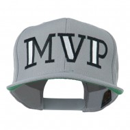 MVP Embroidered Flat Bill Cap - Silver