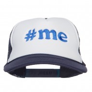 Me Embroidered Two Tone Foam Mesh Cap - Navy White