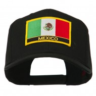 Mexico Flag Letter Patched High Profile Cap - Black