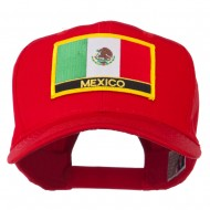 Mexico Flag Letter Patched High Profile Cap - Red
