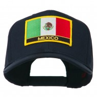Mexico Flag Letter Patched High Profile Cap - Navy