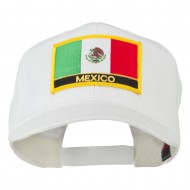 Mexico Flag Letter Patched High Profile Cap - White