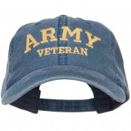 Army Veteran Letters Embroidered Washed Cap - Navy