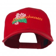 USA State Massachusetts Mayflower Embroidered Low Profile Cap - Red
