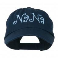 Wording of NaNa Embroidered Cap - Navy