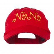 Wording of NaNa Embroidered Cap - Red