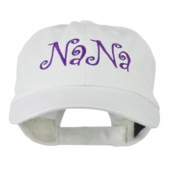 Wording of NaNa Embroidered Cap - White