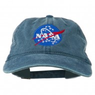 NASA Insignia Embroidered Pigment Dyed Cap - Navy