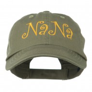 Wording of NaNa Embroidered Cap - Olive