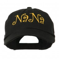 Wording of NaNa Embroidered Cap - Black