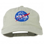 NASA Insignia Embroidered Pigment Dyed Cap - Stone