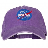 NASA Insignia Embroidered Pigment Dyed Cap - Purple